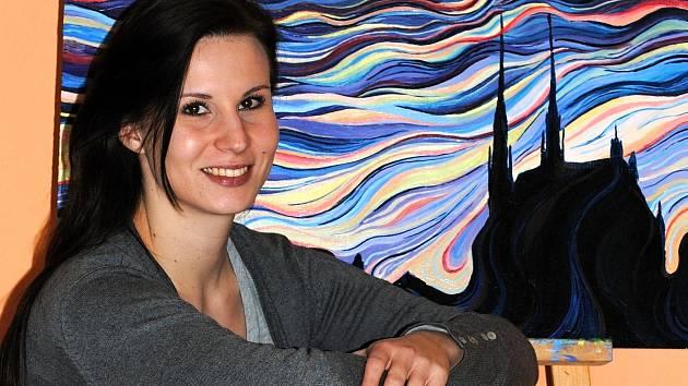 Malířka Veronika Vejpustková z Hustopečí věnuje malování každou volnou chvíli.