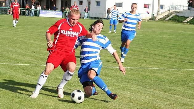 Nejlepší střelec Bavor Lukáš Machala (v červeném).
