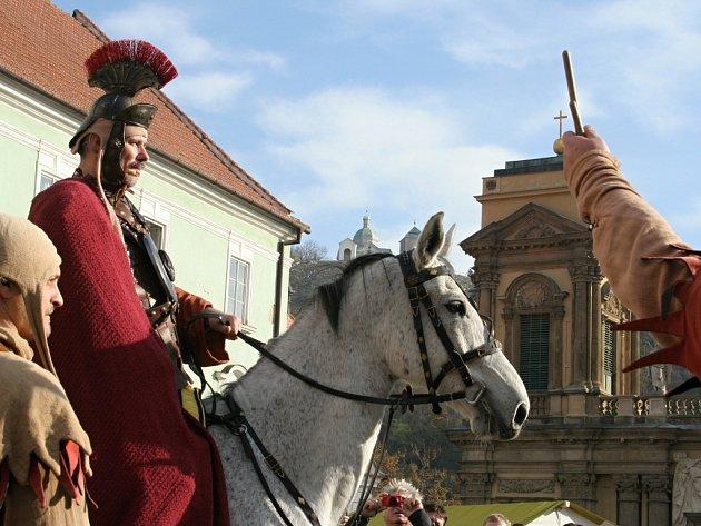 Svatý Martin na bílém koni nevynechal ani Mikulov.
