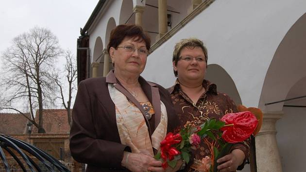 Z.Zipperová  vlevo a D.Gašpieriková