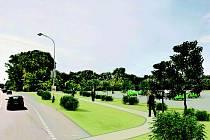 Na zámecké louce má podle investorů s obchodním centrem vyrůst také parkoviště pro dvě stě aut.