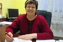 Starostka Jevišovky Božena Bošiaková na radnici.