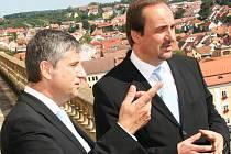 Ministři zahraničí České republiky a Rakouska v Mikulově.
