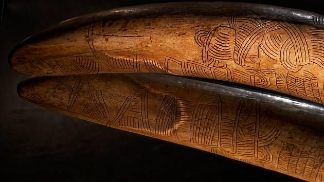 V Archeoparku v Pavlově je k vidění originál mamutího klu z Pavlova.