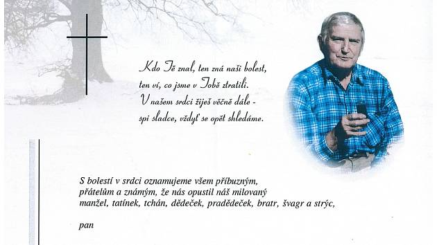 Boleradičtí smutní. Zemřel dlouholetý člen ochotnického souboru Miroslav Vašíček.