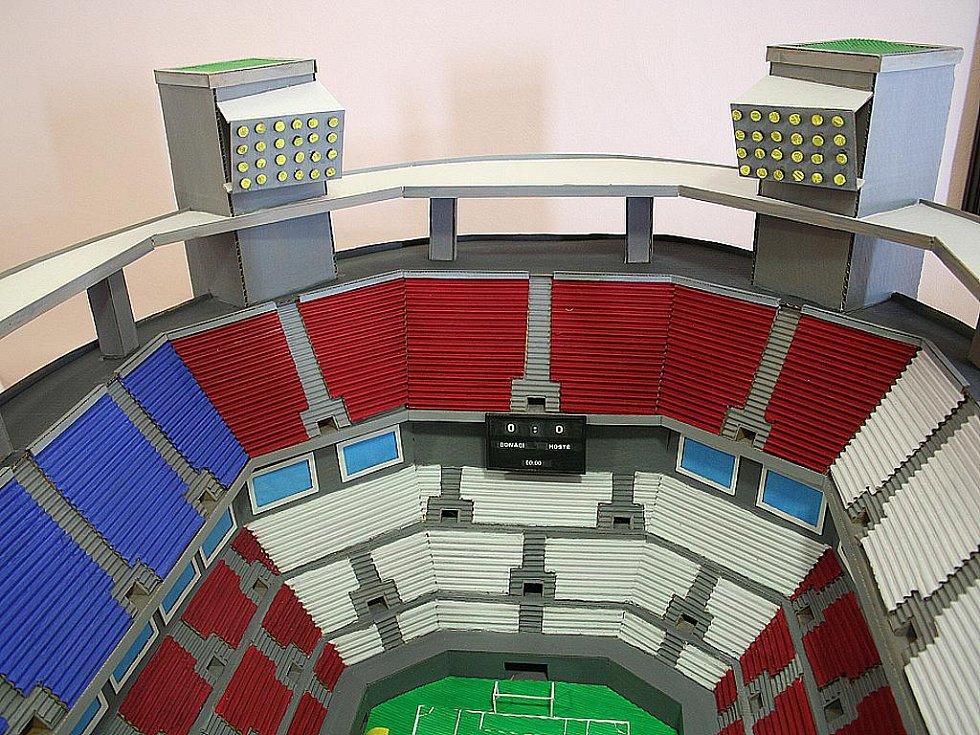 Model národního fotbalového stadionu.