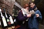 Expozice Salonu vín ve Valticích.