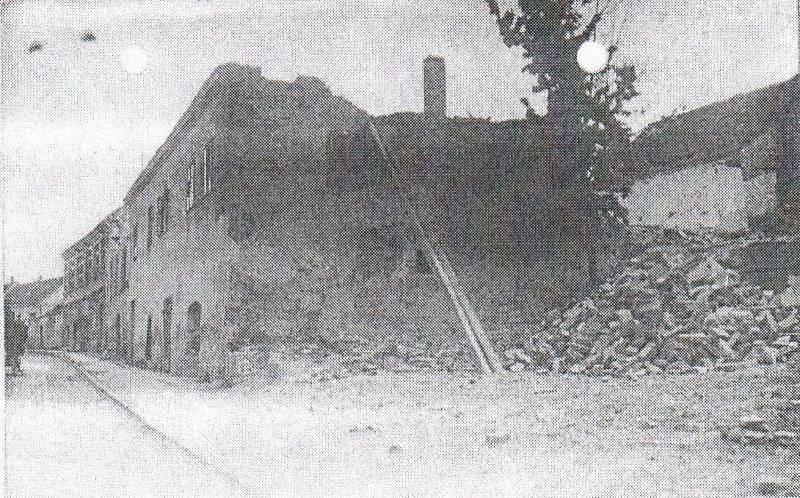 Miroslav po bombardování.