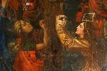 Za zdmi mikulovského zámku právě probíhají restaurátorské práce na vzácném obrazu, který pod viditelnou vrstvou skrýval malbu z první poloviny šestnáctého století.