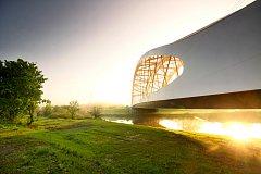Železniční most zvaný Oskar u Břeclavi zvítězil v celoevropské soutěži European Steel Bridge Awards 2018. Foto: David Mahovský