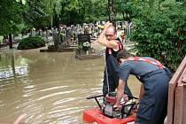 Blesková povodeň v Hustopečích z roku 2011.