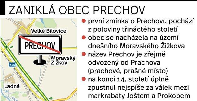 Zaniklá vesnice se nacházela na území dnešního Moravského Žižkova směrem na Břeclav.