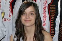 Královna vín 2010 osmnáctiletá Anita Štěrbová z Vrbice.