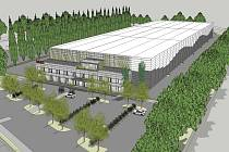 Společnost MOSS logistics staví za Hustopečemi ve směru na Starovičky novou skladovací halu Megahall.