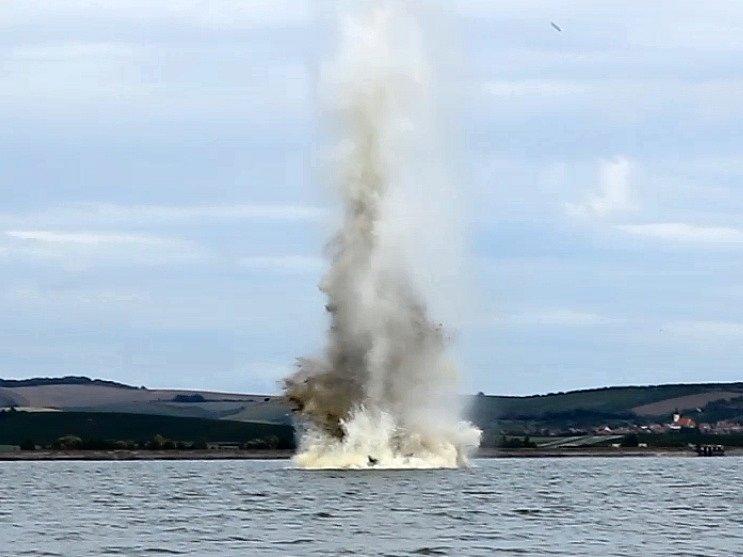 Celkem osmnáct kmenů stromů odstřelili hasiči-střelmistři během tohoto týdne na dolní nádrži vodního díla Nové Mlýny.