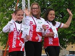 Vítězné naděje břeclavské cyklistiky.