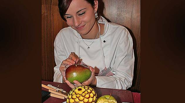 zdobené ovoce
