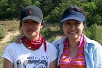 Han Kynl Kim se svou kamarádkou z Jižní Koreje.