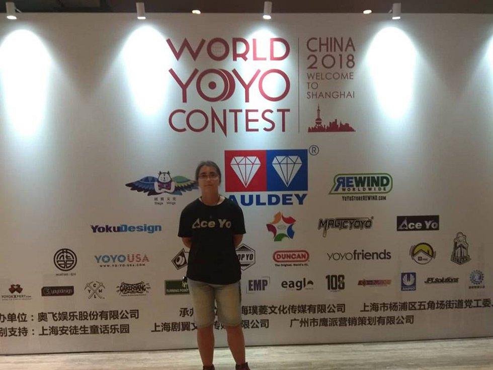 Břeclavanka Veronika Kamenská skončila desátá na mistrovství světa v yoyování v čínské Šanghaji.