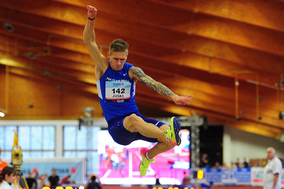 Radek Juška na halovém mistrovství republiky v Praze v roce 2018.