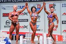 Veronika Zemanová (vpravo) na Mistrovství České republiky v kulturistice.