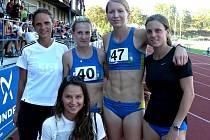 Břeclavské atletky na letošních závodech.