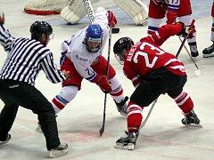 Čeští hokejisté nestačili v Břeclavi na obhájce turnajového prvenství z Kanady.