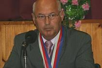Staronový lanžhotský starosta František Hrnčíř na čtvrtečním ustavujícím zasedání zastupitelstva.