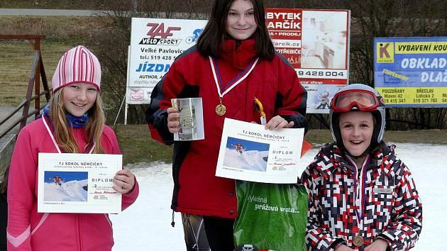 Nemčičky hostily přebory v lyžování.