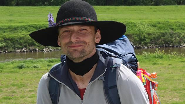 Marek Šalanda při své pouti Zašívání republiky