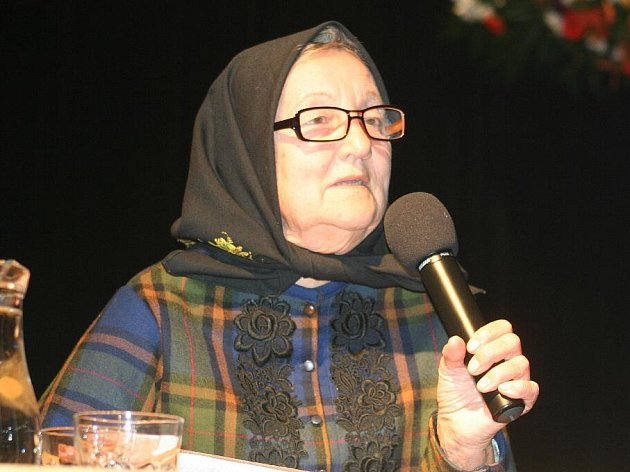 Diváky v sále bavila i osmdesátiletá Růžena Kůrečková.