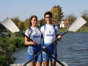 Markéta a Dalibor Nedělovi jsou chloubou břeclavského Slováckého veslařského klubu.