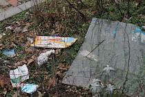 Lidé upozornili na zanedbané místo kolem dvou parkovišť na Lidické ulici v Břeclavi. Pozemky patří soukromým vlastníkům. Nepořádek tam byl i ve čtvrtek. Přes dva vysoké obrubníky chodí obyvatelé bytového domu přes podlážku.