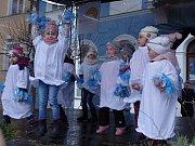 Odpolední návštěvníky potěšila vystoupení dětí z místních školek.