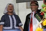 Jihomoravské dožínky lidé oslavili u břeclavského zámku.