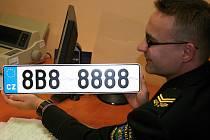 Raritní značka 8B8 8888 přidělili Městské policii v Břeclavi.