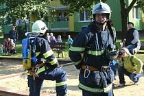 Tři hasičské jednotky z Břeclavi vyjely v pátek 24. září 2010 k požáru ve výškové budově na břeclavském sídlišti Dukelských hrdinů. Jednalo se o prověřovací cvičení.
