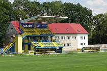 Fotbalový areál v Lesní ulici, kde hrávají své zápasy třetiligoví fotbalisté Městského sportovního klubu Břeclav.