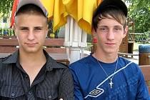 Fotbaloví záložníci Richard Tichý (vlevo) a Tomáš Trčka byli letos nejlepšími střelci žákovské čtrnáctky MSK.