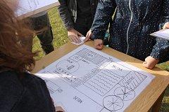 Zahradu lednické Zahradnické fakulty představili tamní studenti formou hádanek a her břeclavským gymnazistům. Při společném projektu.