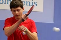 Jan Vašíček, největší talent mezi mladými stolními tenisty MSK Břeclav.