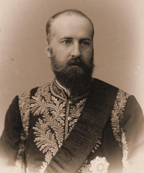 Kníže František I. Lichtenštejn (1853-1938) bylel jako poslední vládce rodu na zámku ve Valticích na Břeclavsku.