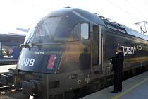 Vlaková souprava Railjet se na testovací trase zastavila i v Břeclavi.