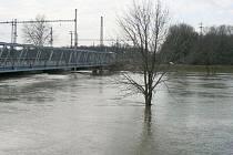 Velká voda v Břeclavi.
