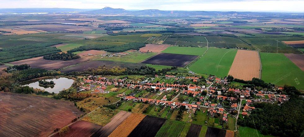 Letecký pohled na Nový Přerov.