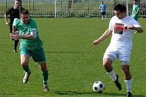 Charvátská (v zeleném) podlehla ve šlágru kola Cvrčovicích 0:3.