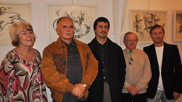 Umělecká skupina Alfons (zleva Grůzová, Janovský, Klak, Demela a Müller).