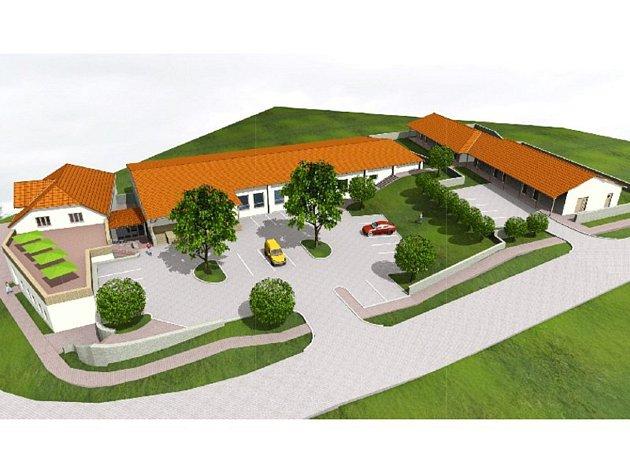 Komunitní centrum s multifunkční halou má vyrůst v Přibicích na místě bývalé fary.