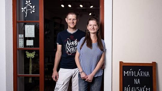 Ingrid Holoubková s manželem před sedmi lety založila v Klentnici Mýdlárnu na Pálavském vrškufoto: Michal Kubala