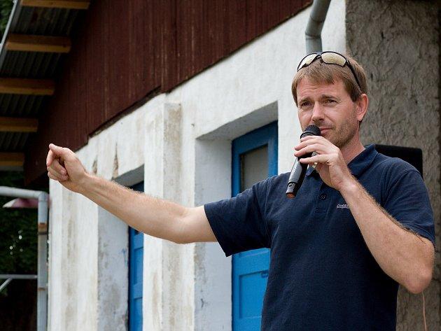 Organizátor Břeclavského boje Petr Sudín.